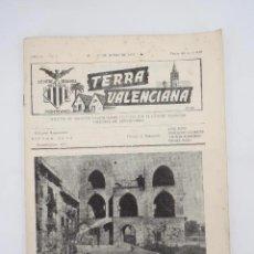 Coleccionismo de Revistas y Periódicos: TERRA VALENCIANA AÑO IV N.º 7. BOLETIN DE ESTUDIOS VALENCIANOS 1957. Lote 195526935