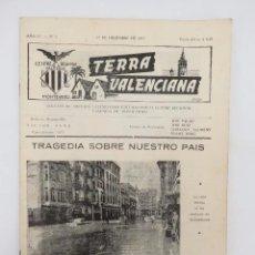 Coleccionismo de Revistas y Periódicos: TERRA VALENCIANA AÑO IV N.º 8. BOLETIN DE ESTUDIOS VALENCIANOS 1957. Lote 195526938