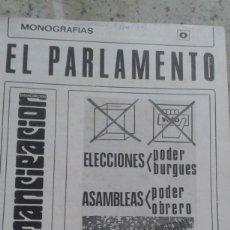 Coleccionismo de Revistas y Periódicos: EL PARLAMENTO,ORGANO DEL PODER BURGUES. MONOGRAFIA DE EMANCIPACION Nº 0 SEPTIEMBRE 1977. Lote 195532827