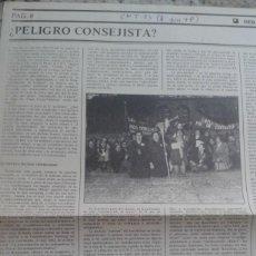 Coleccionismo de Revistas y Periódicos: DEBATE SOBRE EL PELIGRO CONSEJISTA. EXTRAIDO DE CNT Nº 15 JUNIO 1978. Lote 195536731