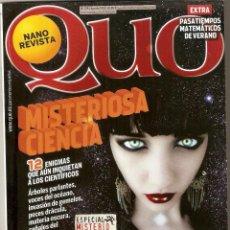 Coleccionismo de Revistas y Periódicos: REVISTA QUO Nº 179 - AGOSTO 2010 - NANO REVISTA. Lote 195542791