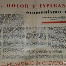 Coleccionismo de Revistas y Periódicos: INCUNABLE PERIÓDICO SACERDOTAL VOL III 140 ENERO 1961 GOZO DOLOR ESPERANZA ECUMENISMO GIRARDA UNIÓN. Lote 195542852