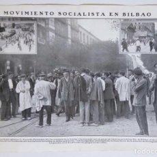 Coleccionismo de Revistas y Periódicos: 1911 HOJAS REVISTA BILBAO HUELGA MOVIMIENTO SOCIALISTA PABLO IGLESIAS, FACUNDO PEREZAGUA OBREROS. Lote 195542853