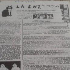 Coleccionismo de Revistas y Periódicos: LA CNT EN CUESTION Y AUTONOMIA OBRERA 4 PAGINAS EXTRAIDAS DE LA REVISTA PALANTE Nº 4 MARZO 1978. Lote 195543273