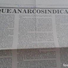 Coleccionismo de Revistas y Periódicos: POR QUÉ ANARCOSINDICALISMO. J. PEIRATS. EXTRAIDO DEL PERIODICO SOLIDARIDAD OBRERA Nº 25 AGOSTO 1978. Lote 195543735