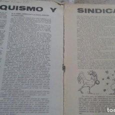 Coleccionismo de Revistas y Periódicos: ANARQUISMO Y SINDICALISMO. 3 PAGINAS EXTRAIDAS DE LA REVISTA EL TOPO AVIZOR Nº 5. NOVIEMBRE 1977. Lote 195543982