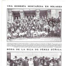 Coleccionismo de Revistas y Periódicos: 1911 HOJA REVISTA CANTABRIA SANTANDER SOLARES ROMARÍA MONTAÑESA TRAJE REGIONAL. Lote 195547900