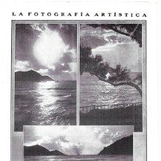 Coleccionismo de Revistas y Periódicos: 1911 HOJA REVISTA SAN SEBASTIÁN PLAYAS FOTOGRAFÍAS ARTÍSTICAS DE PEDRO LECUONA. Lote 195548118