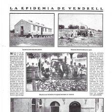 Coleccionismo de Revistas y Periódicos: 1911 HOJA REVISTA TARRAGONA EL VENDRELL EPIDEMIA MÁQUINAS DESINFECTAR Y ESTERILIZAR REPARTO D COMIDA. Lote 195548591