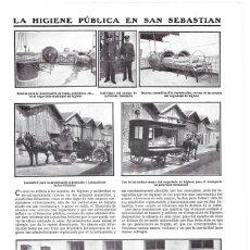 Coleccionismo de Revistas y Periódicos: 1911 HOJA REVISTA SAN SEBASTIÁN HIGIENE PÚBLICA COCHES TRANSPORTE INFECCIOSOS Y ANIMALES MUERTOS. Lote 195548838