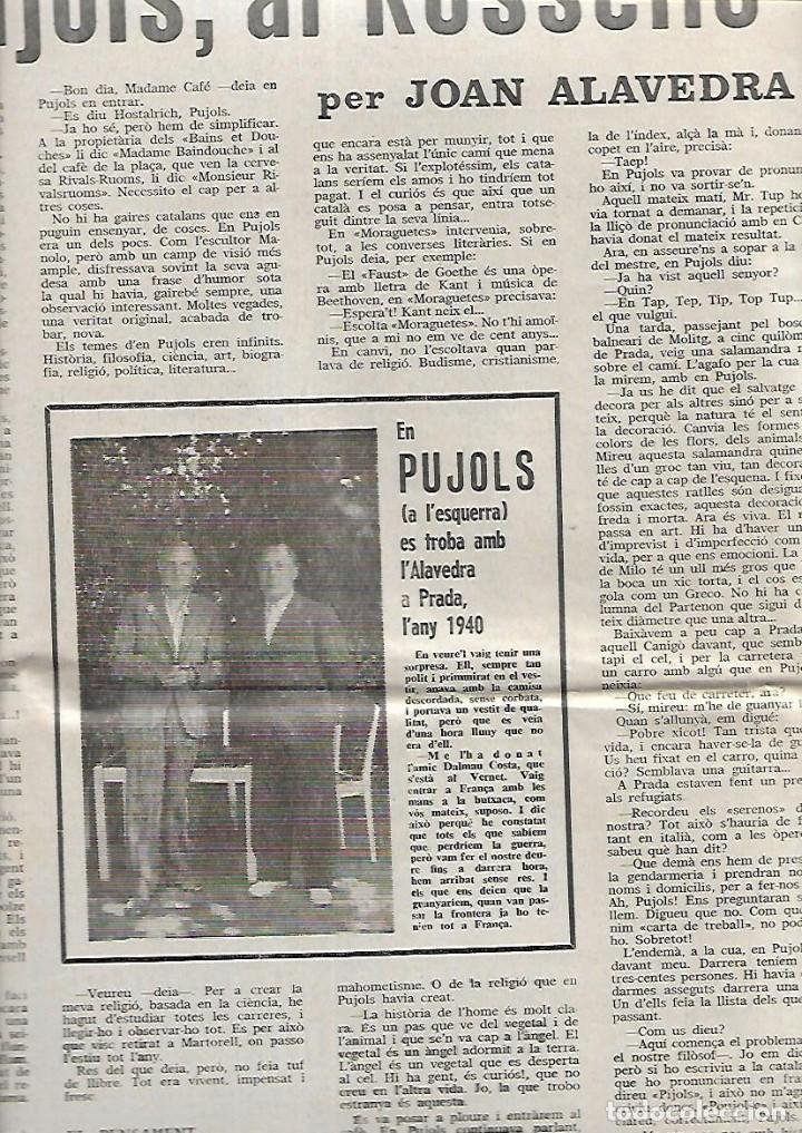 Coleccionismo de Revistas y Periódicos: AÑO 1966 FRANCESC PUJOLS PAU VILA TERRASSA CANTONIGROS MERMELADA CASCABEL CANTIRS ARGENTONA - Foto 3 - 12880002