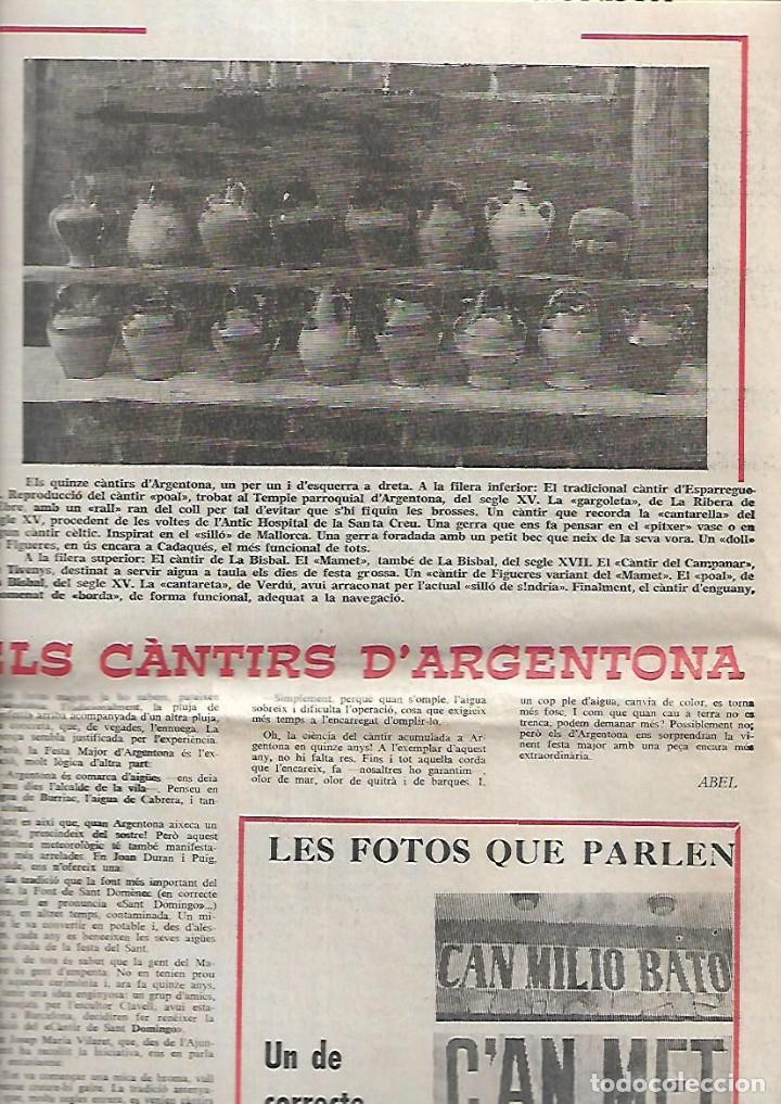 AÑO 1966 FRANCESC PUJOLS PAU VILA TERRASSA CANTONIGROS MERMELADA CASCABEL CANTIRS ARGENTONA (Coleccionismo - Revistas y Periódicos Modernos (a partir de 1.940) - Otros)