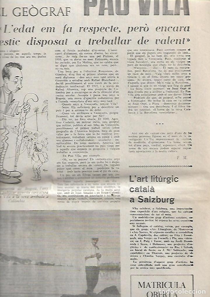 Coleccionismo de Revistas y Periódicos: AÑO 1966 FRANCESC PUJOLS PAU VILA TERRASSA CANTONIGROS MERMELADA CASCABEL CANTIRS ARGENTONA - Foto 4 - 12880002