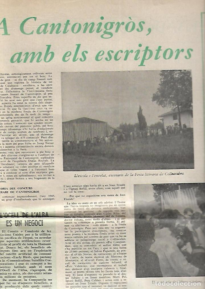 Coleccionismo de Revistas y Periódicos: AÑO 1966 FRANCESC PUJOLS PAU VILA TERRASSA CANTONIGROS MERMELADA CASCABEL CANTIRS ARGENTONA - Foto 6 - 12880002