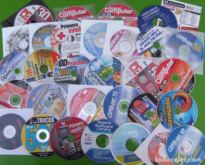 LOTE DE 40 CDS Y DVD DE REVISTAS: PC TODAY, PERSONAL COMPUTER, COMPUTER HOY, OTROS (Coleccionismo - Revistas y Periódicos Modernos (a partir de 1.940) - Otros)