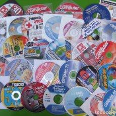 Coleccionismo de Revistas y Periódicos: LOTE DE 40 CDS Y DVD DE REVISTAS: PC TODAY, PERSONAL COMPUTER, COMPUTER HOY, OTROS. Lote 195572865