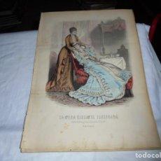 Coleccionismo de Revistas y Periódicos: REVISTA LA MODA ELEGANTE CON LAMINA COLOREADA6 DE JUNIO DE 1880 .-AÑO XXXIX.Nº 21.. Lote 195579028