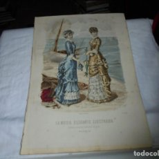 Coleccionismo de Revistas y Periódicos: REVISTA LA MODA ELEGANTE.CON LAMINA COLOREADA .-30 DE JULIO DE 1880 .-AÑO XXXIX.Nº 28. Lote 195581621