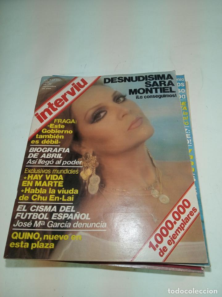 Coleccionismo de Revistas y Periódicos: Gran lote de 49 revistas Interviu. Números entre el 75 de 1977 y el 231 de 1980. Fotos de todas. - Foto 6 - 195739556