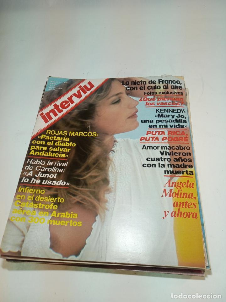 Coleccionismo de Revistas y Periódicos: Gran lote de 49 revistas Interviu. Números entre el 75 de 1977 y el 231 de 1980. Fotos de todas. - Foto 8 - 195739556