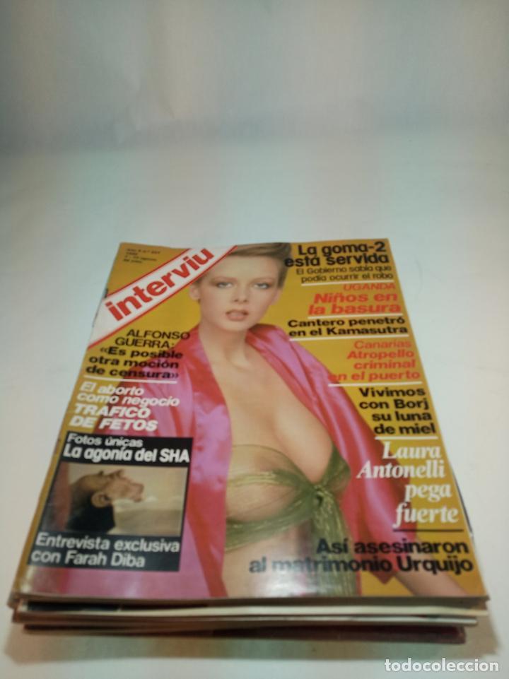 Coleccionismo de Revistas y Periódicos: Gran lote de 49 revistas Interviu. Números entre el 75 de 1977 y el 231 de 1980. Fotos de todas. - Foto 12 - 195739556