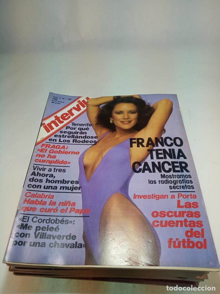 Coleccionismo de Revistas y Periódicos: Gran lote de 49 revistas Interviu. Números entre el 75 de 1977 y el 231 de 1980. Fotos de todas. - Foto 15 - 195739556