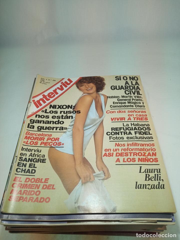Coleccionismo de Revistas y Periódicos: Gran lote de 49 revistas Interviu. Números entre el 75 de 1977 y el 231 de 1980. Fotos de todas. - Foto 17 - 195739556