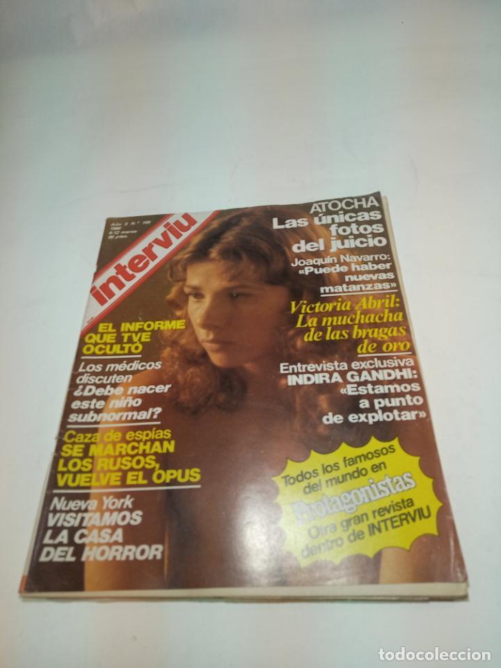 Coleccionismo de Revistas y Periódicos: Gran lote de 49 revistas Interviu. Números entre el 75 de 1977 y el 231 de 1980. Fotos de todas. - Foto 24 - 195739556