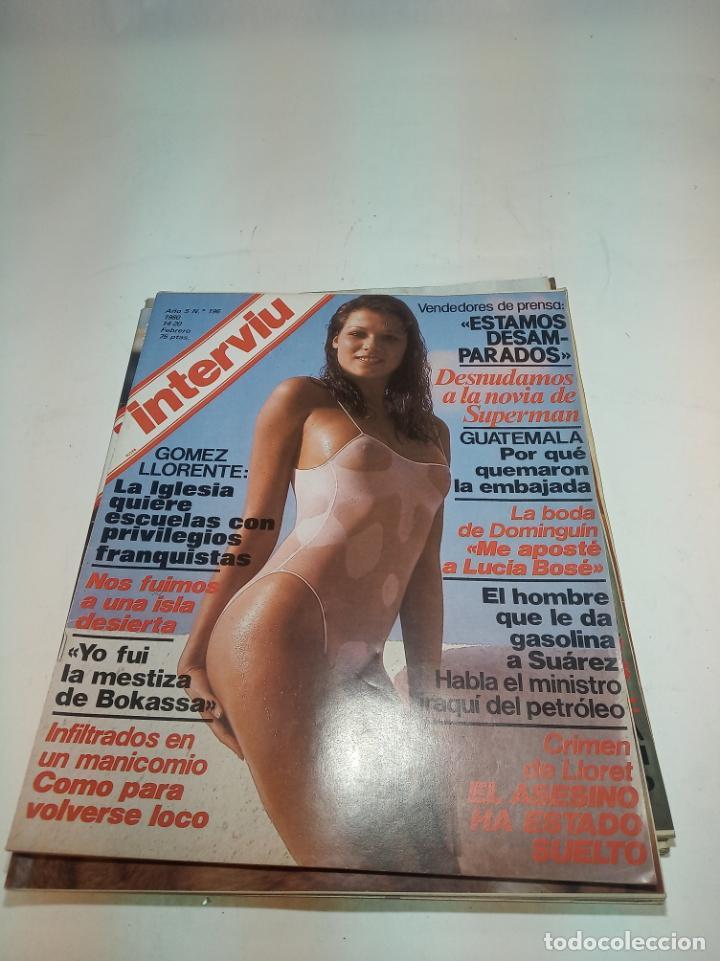 Coleccionismo de Revistas y Periódicos: Gran lote de 49 revistas Interviu. Números entre el 75 de 1977 y el 231 de 1980. Fotos de todas. - Foto 27 - 195739556