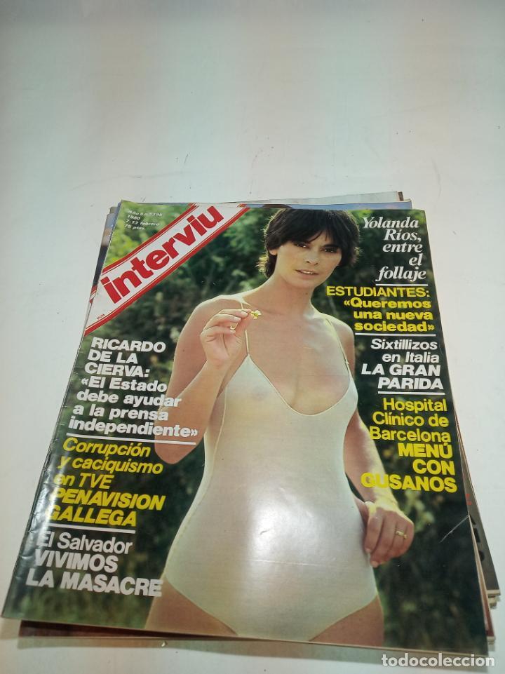 Coleccionismo de Revistas y Periódicos: Gran lote de 49 revistas Interviu. Números entre el 75 de 1977 y el 231 de 1980. Fotos de todas. - Foto 28 - 195739556