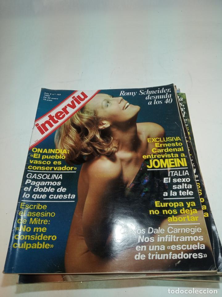 Coleccionismo de Revistas y Periódicos: Gran lote de 49 revistas Interviu. Números entre el 75 de 1977 y el 231 de 1980. Fotos de todas. - Foto 30 - 195739556