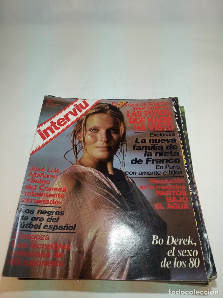 Coleccionismo de Revistas y Periódicos: Gran lote de 49 revistas Interviu. Números entre el 75 de 1977 y el 231 de 1980. Fotos de todas. - Foto 32 - 195739556
