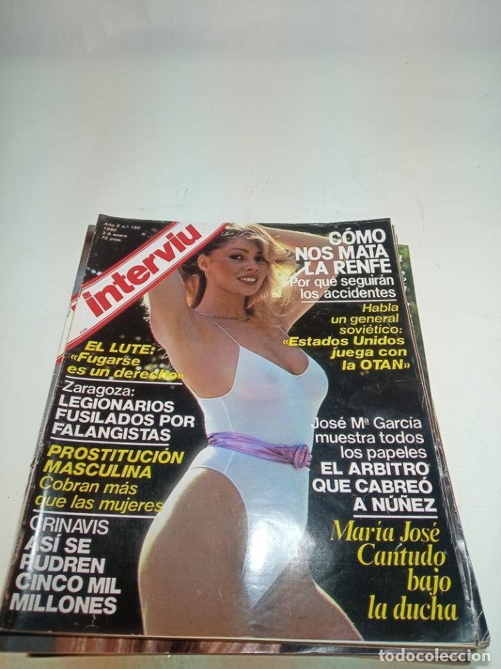 Coleccionismo de Revistas y Periódicos: Gran lote de 49 revistas Interviu. Números entre el 75 de 1977 y el 231 de 1980. Fotos de todas. - Foto 33 - 195739556