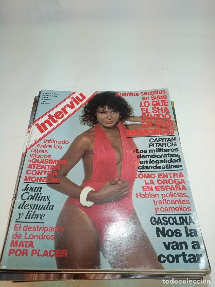 Coleccionismo de Revistas y Periódicos: Gran lote de 49 revistas Interviu. Números entre el 75 de 1977 y el 231 de 1980. Fotos de todas. - Foto 34 - 195739556