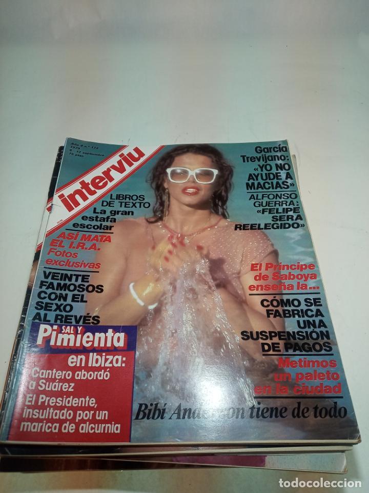 Coleccionismo de Revistas y Periódicos: Gran lote de 49 revistas Interviu. Números entre el 75 de 1977 y el 231 de 1980. Fotos de todas. - Foto 38 - 195739556