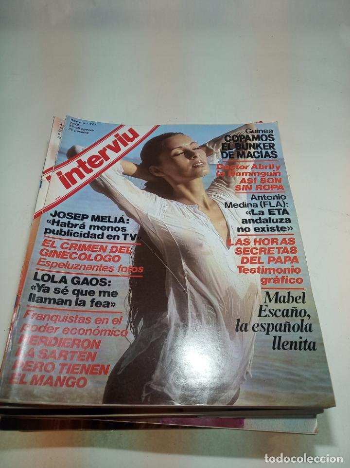 Coleccionismo de Revistas y Periódicos: Gran lote de 49 revistas Interviu. Números entre el 75 de 1977 y el 231 de 1980. Fotos de todas. - Foto 40 - 195739556