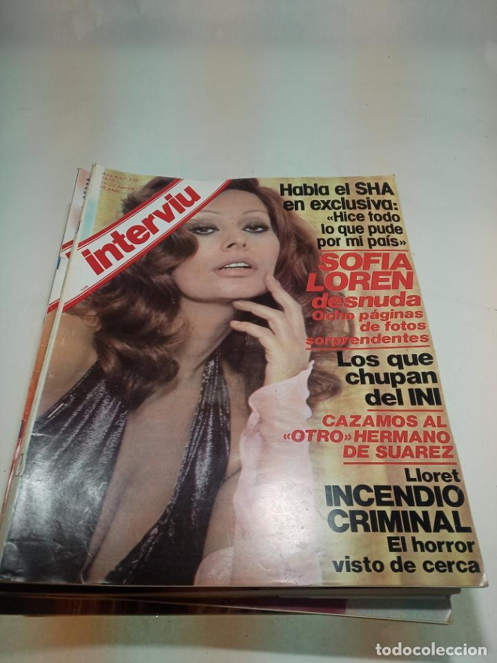 Coleccionismo de Revistas y Periódicos: Gran lote de 49 revistas Interviu. Números entre el 75 de 1977 y el 231 de 1980. Fotos de todas. - Foto 41 - 195739556