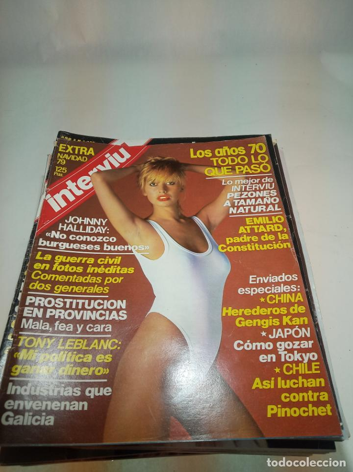 Coleccionismo de Revistas y Periódicos: Gran lote de 49 revistas Interviu. Números entre el 75 de 1977 y el 231 de 1980. Fotos de todas. - Foto 47 - 195739556