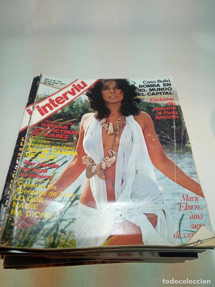 Coleccionismo de Revistas y Periódicos: Gran lote de 49 revistas Interviu. Números entre el 75 de 1977 y el 231 de 1980. Fotos de todas. - Foto 49 - 195739556