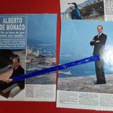 Coleccionismo de Revistas y Periódicos: ALBERTO MONACO YA ES HORA DE FORMAR FAMILIA-ENTREVISTA- RECORTE 5 PAG - REVISTA HOLA AÑO 1993. Lote 195767106