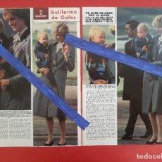 Coleccionismo de Revistas y Periódicos: GUILLERMO GALES HIJO DE DIANA YA SALUDA - - RECORTE 2 PAG - REVISTA HOLA AÑO 1983. Lote 196063147