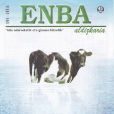 Coleccionismo de Revistas y Periódicos: 8 REVISTAS ENBA, REVISTAS DEL CAMPO EN EUSKERA Y CASTELLAN. Lote 196064892
