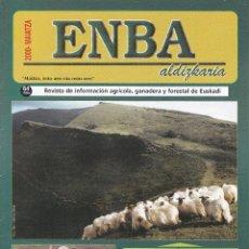 Coleccionismo de Revistas y Periódicos: 5 REVISTAS ENBA, REVISTA INFORMACIÓN AGRICOLA, GANADERA Y FORESTAL DE EUSKADI EUSKERA Y CASTELLANO. Lote 196069741