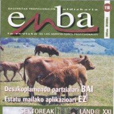Coleccionismo de Revistas y Periódicos: 6 REVISTAS ENBA, REVISTA INFORMACIÓN AGRICOLA, GANADERA Y FORESTAL DE EUSKADI EUSKERA Y CASTELLANO. Lote 196076241