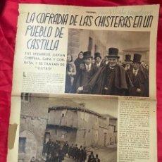 Collezionismo di Riviste e Giornali: VILLASANDINO (BURGOS) LA COFRADIA DE LAS CHISTERAS, 24/4/1935, MUY ILUSTRADO. Lote 196228728