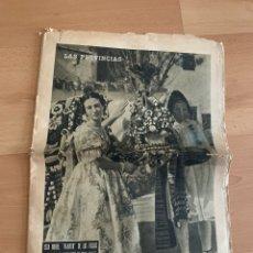 Coleccionismo de Revistas y Periódicos: PERIÓDICO LA PROVINCIAS. FALLAS 1954. Lote 196254268