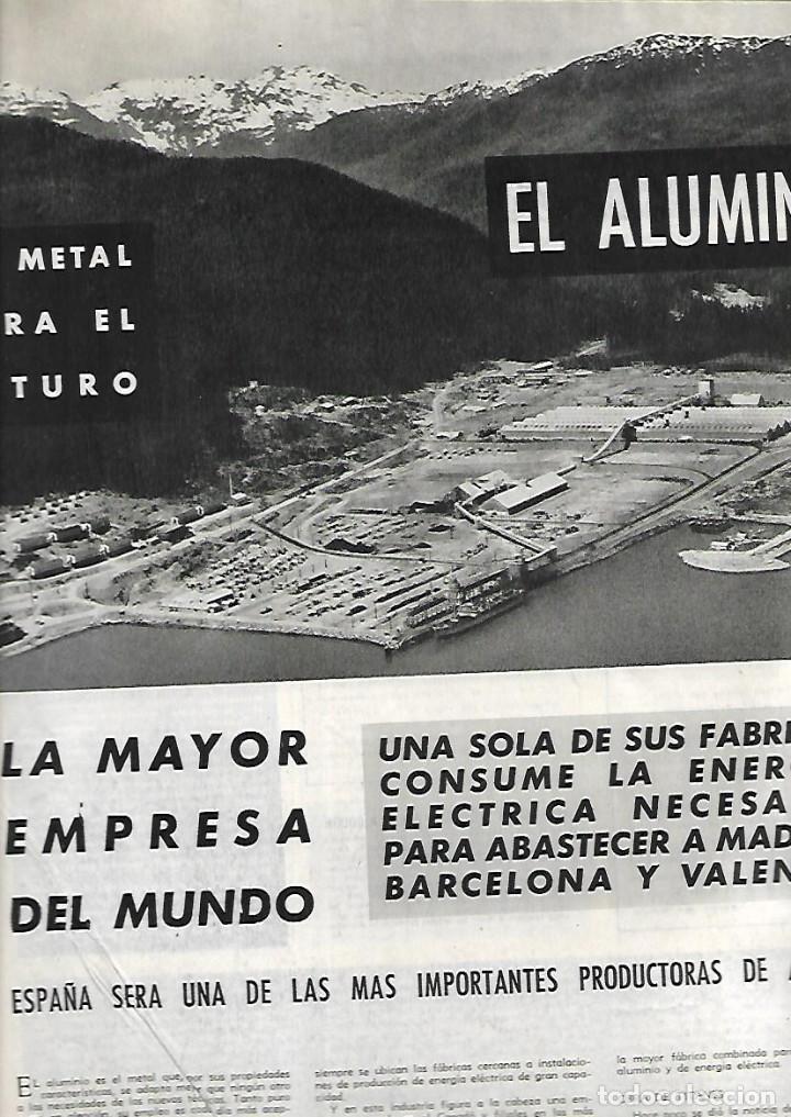AÑO 1955 ALCAN INDUSTRIA ALUMINIO IBERICO ALICANTE ESTRELLAS CINE EN MADRID AVIACION BODAS DE ORO. (Coleccionismo - Revistas y Periódicos Modernos (a partir de 1.940) - Otros)