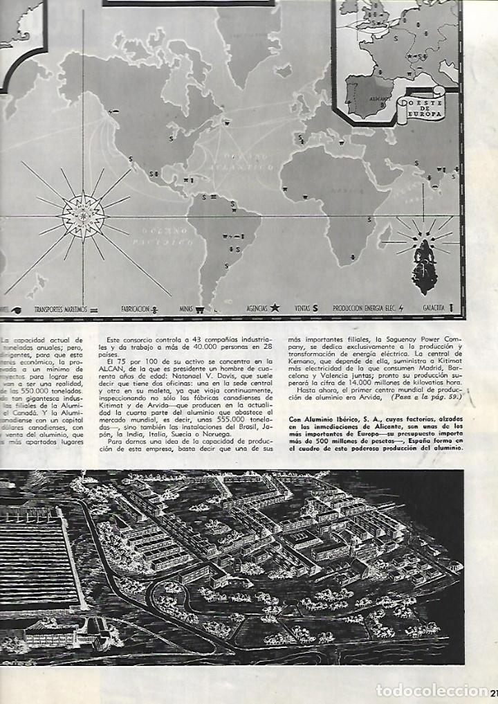 Coleccionismo de Revistas y Periódicos: AÑO 1955 ALCAN INDUSTRIA ALUMINIO IBERICO ALICANTE ESTRELLAS CINE EN MADRID AVIACION BODAS DE ORO. - Foto 2 - 13195335