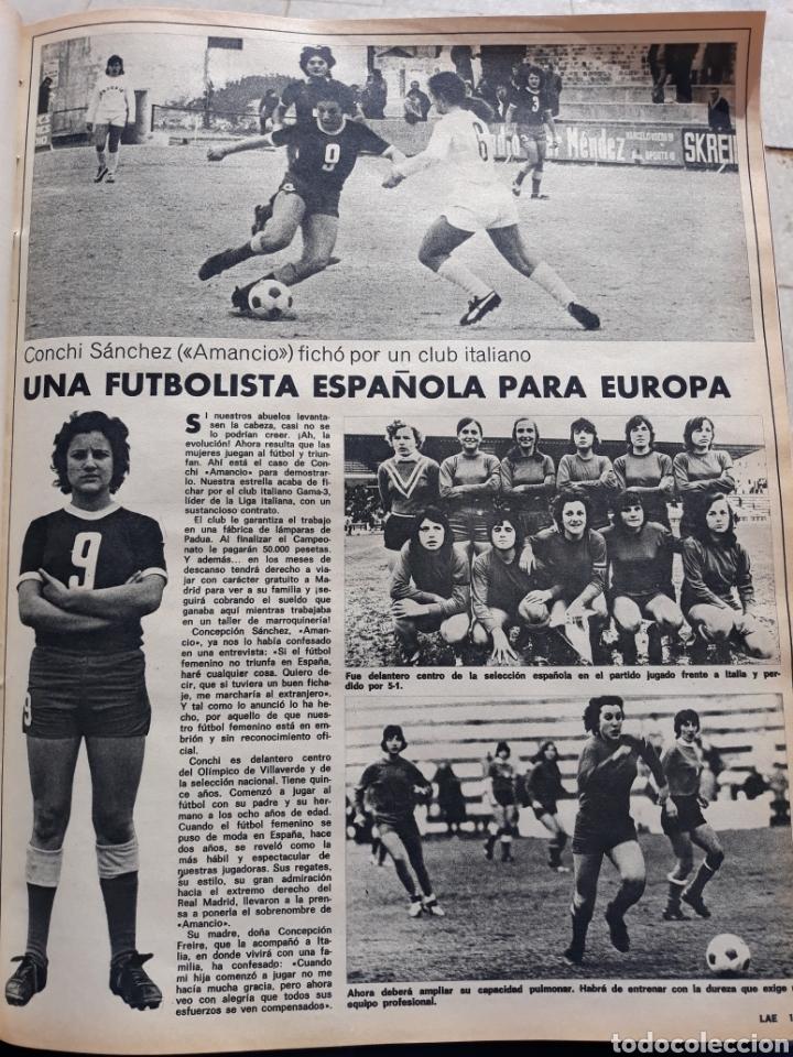 conchi sánchez, amancio , una futbolista españo - Comprar Otras revistas y periódicos modernos en todocoleccion - 196482896