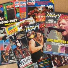 Coleccionismo de Revistas y Periódicos: LOTE REVISTAS HEAVY, KISS, IRON MAIDEN, METALLICA, SEPULTURA, WOODSTOCK 94... AÑOS 90. Lote 196635806
